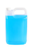 Container with windshield washer fluid, on white background. Plastic container with windshield washer fluid, on white background Royalty Free Stock Image