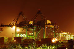 Container yard Stock Photos