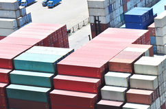 Container yard Stock Photo