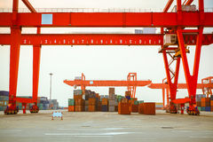 Container yard Royalty Free Stock Images