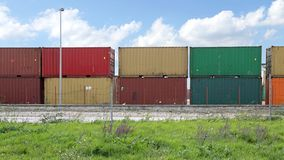 Container Yard Cargo Royalty Free Stock Photos