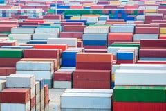 Container yard closeup Stock Photography