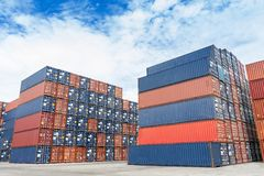 Container yard Stock Image