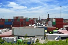 Container yard Royalty Free Stock Photography
