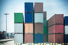 Container Yard Stock Photography