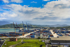 Container yard . Royalty Free Stock Photo