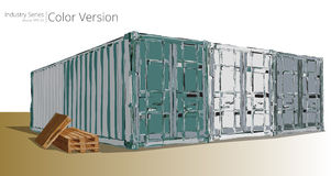 Container Yard. Stock Photography