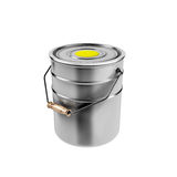 Container with yellow paint Royalty Free Stock Photography