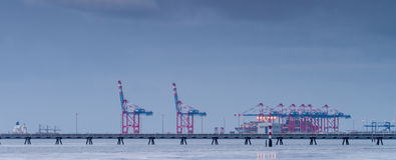 Containerbahnhof Stockfotos