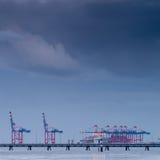 Containerbahnhof Stockbilder