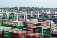 Containerbahnhof Lizenzfreie Stockbilder