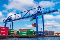 Containerbahnhof CTVrede Amsterdam Stockfoto