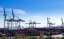 Containerbahnhof, Frachthafen Lizenzfreie Stockbilder