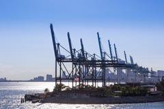 Containerbahnhof, Frachthafen in USA Behälterladen craine Stockfoto