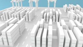 Containerbahnhof-oder Versandverpackungs-Yard Lizenzfreie Stockfotos