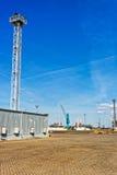 Containerbahnhof in Ventspils in Lettland stockbild