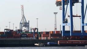 ContainerbahnhofZeitspanne stock video footage
