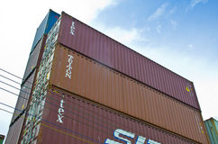 Containerblokken Royalty-vrije Stock Foto's