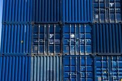 containeres blu del carico Immagine Stock