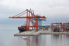 Containerhafen Stockfotos