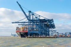 Containerhafen Stockfotografie