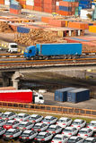 Containerhafenstruktur Lizenzfreies Stockbild