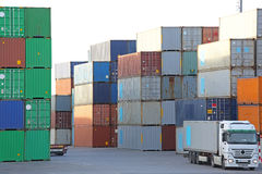 Containerhaven Royalty-vrije Stock Foto
