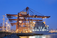 Containerhaven in Hong Kong Royalty-vrije Stock Fotografie