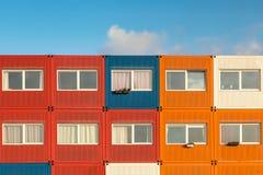 Containerhuizen royalty-vrije stock foto