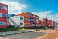 Containerhuizen in Noord-Amsterdam Stock Foto