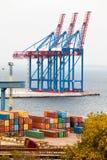 Containerkraan Royalty-vrije Stock Fotografie
