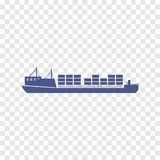 Containerpictogram Royalty-vrije Stock Afbeeldingen