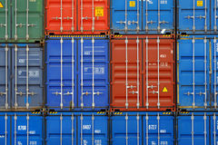 Containers. Waiting to be loaded royalty free stock images