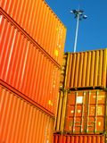 Containers. Stacks of shipping containers at a port Stock Photography