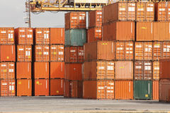 Containers. Storage containers in maritime port Royalty Free Stock Image