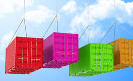 The containers Stock Photography