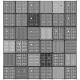 Containers background abstract illustration Stock Image