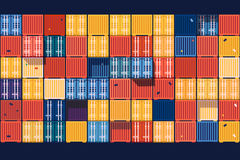 Containers background flat Royalty Free Stock Photo