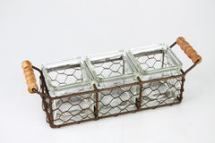 Containers in a basket Stock Image