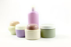 Containers of beauty products without labels Stock Photography