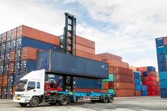 Containers bij de Dokken Stock Fotografie