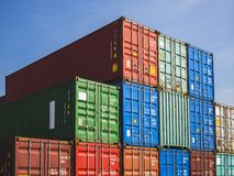 Containers Cargo shipping Logistic freight warehouse Import Export Business. Concept stock photography