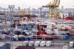 Containers, cargo, shipping... Stock Image