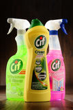 Containers of Cif products by Unilever Stock Photography