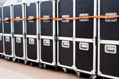 Containers for concert equipment Stock Images