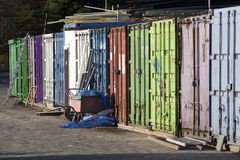Containers on a Construction site Stock Photography