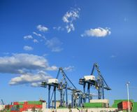 Containers cranes Royalty Free Stock Photo