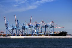 Containers cranes Royalty Free Stock Photos