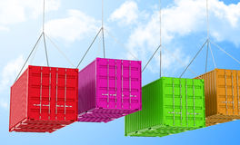 The containers Stock Image