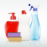 Containers with detergent Royalty Free Stock Image
